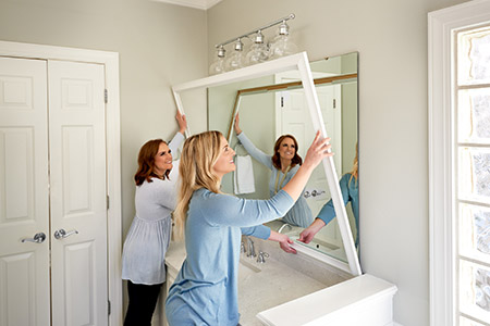 Installing in the bath? Add Profit with MirrorMate frames.